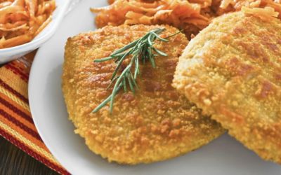 Chuleta de pollo apanada al mejor estilo colombiano